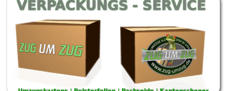 Umzugskartons und Polsterfolien im Umzug & Verpackungsservice