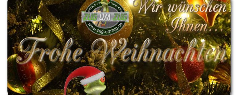 Zug-Umzug wünscht Ihnen ein frohes, besinnliches Weihnachtsfest