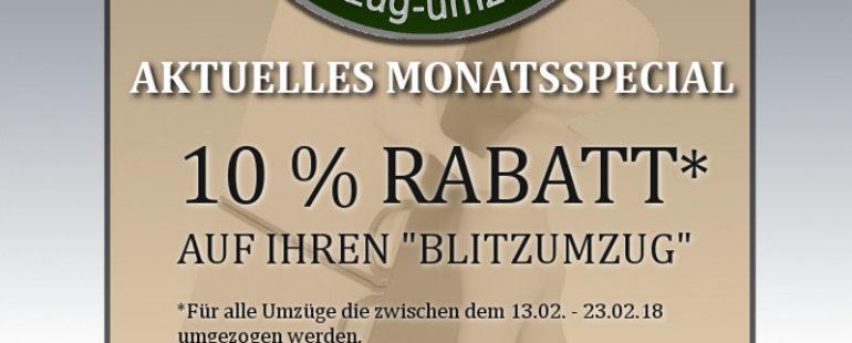 10 % Rabatt auf den Gesamtpreis – vom 13.02.-23.02.18